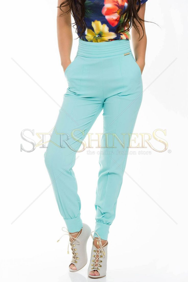 PrettyGirl Cosy Look Mint Trousers