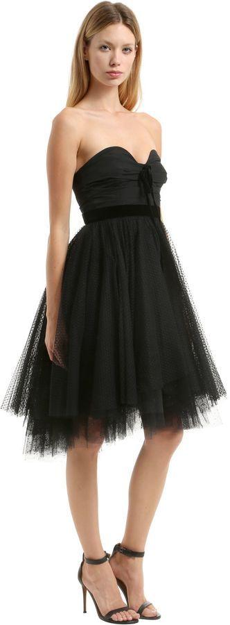 Philosophy di Lorenzo Serafini Razmir & Swiss Dot Lace Bustier Dress