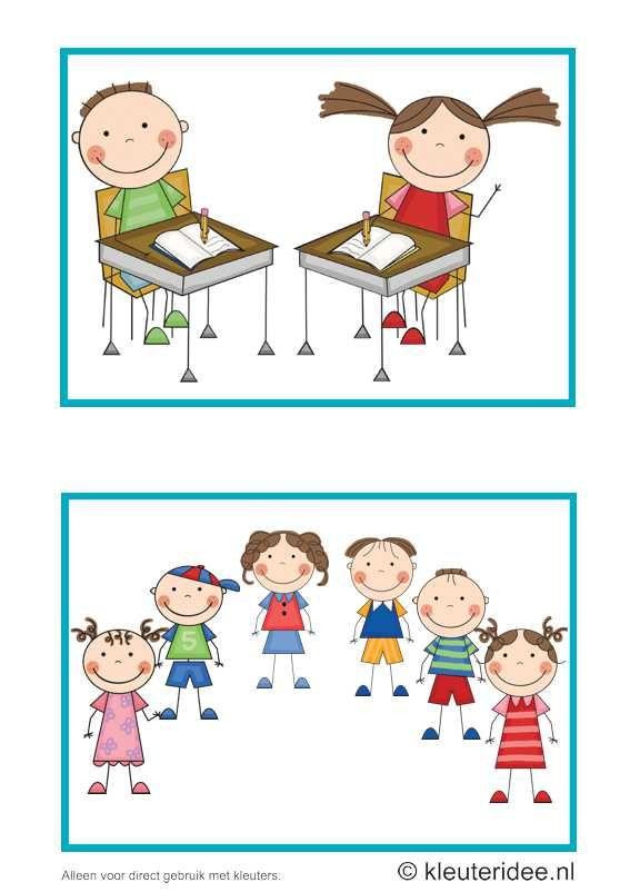 Dagritmekaarten voor kleuters 8, kleuteridee.nl , toets en kringspelletje , daily schedule cards for preschool 8, free printable.