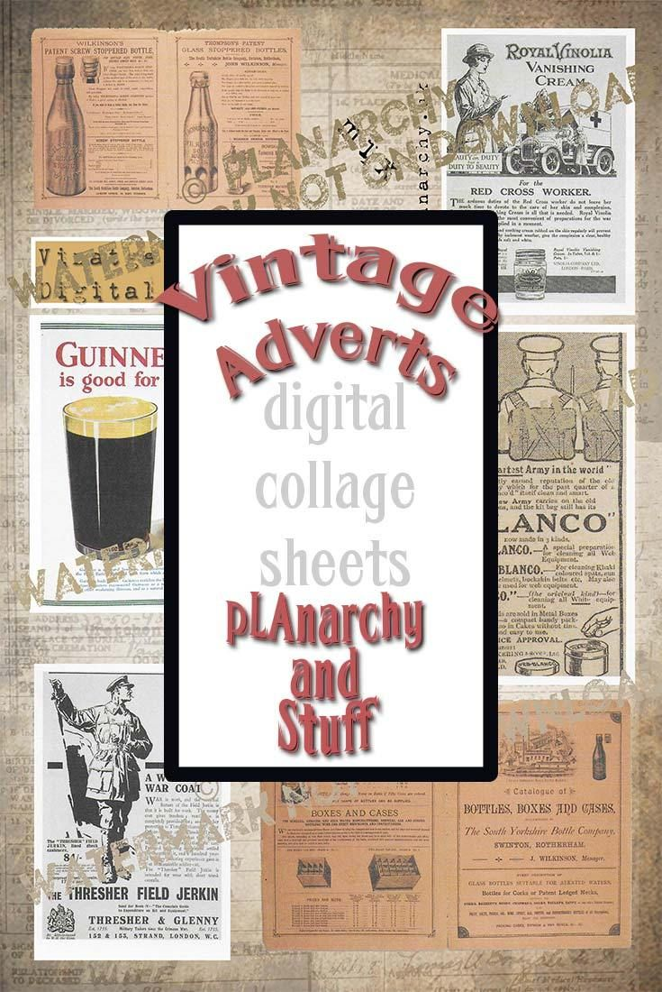 Vintage Advert Digital Collage Sheets — the creative minimalist. Read about my new digital collage sheets on the blog.