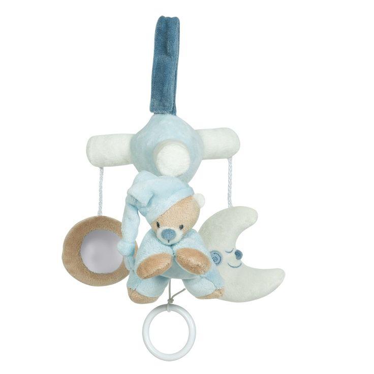 Mini mobile blue bear Milo 27cm - #baby #bebe #doudou #knuffel #knuffelbeer #cuddlytoy #kuscheltier #nattou #papa #mama #mom #dad #father #mother #parents #maman #grossesse #zwanger #pregnant #pregnancy #zwangerschap #enceinte #cuddly #peluche #plush #Plusch #schwanger #geboorte #geburt #birth #naissance #vater #eltern #mutter #ragdoll #cuddly #toy #cadeau #gift #geschenk #bear #beer #ours #bar #blauw #bleu #blue #blau