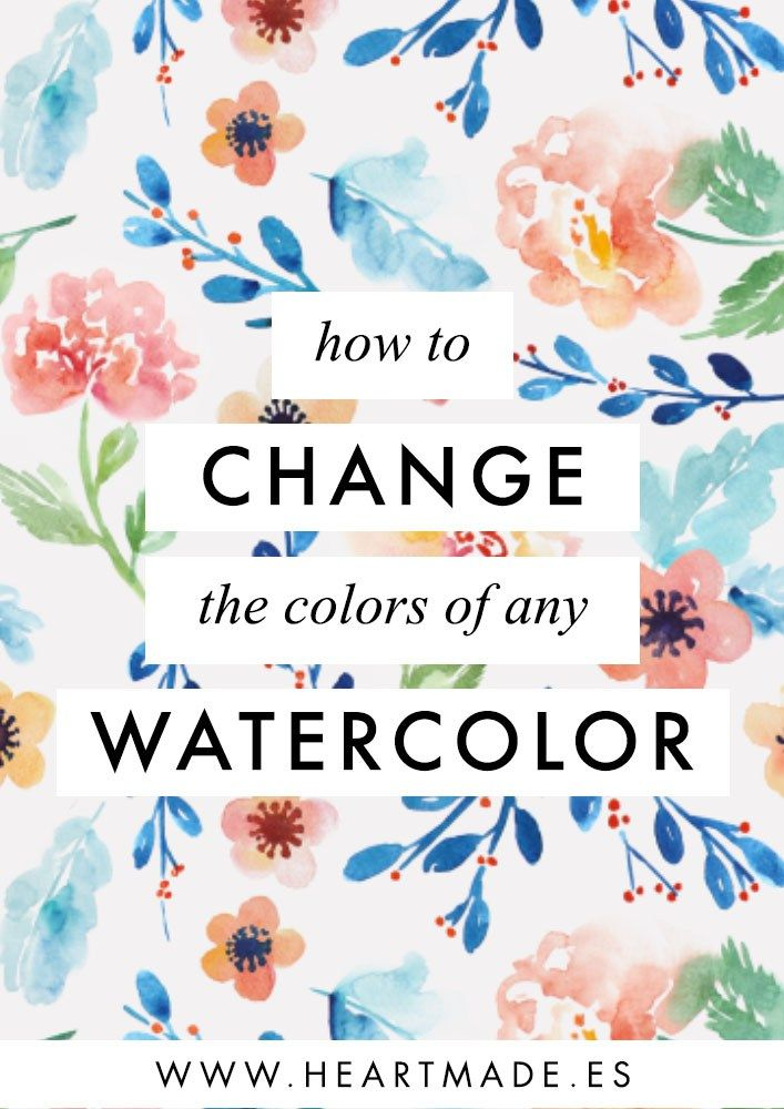 How To Change The Color Of A Watercolor Painting Watercolor