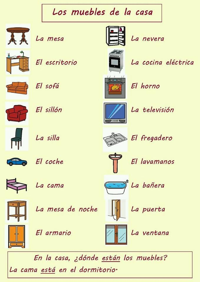 69 best Vocabulario casa images on Pinterest | Learn ... - photo#15