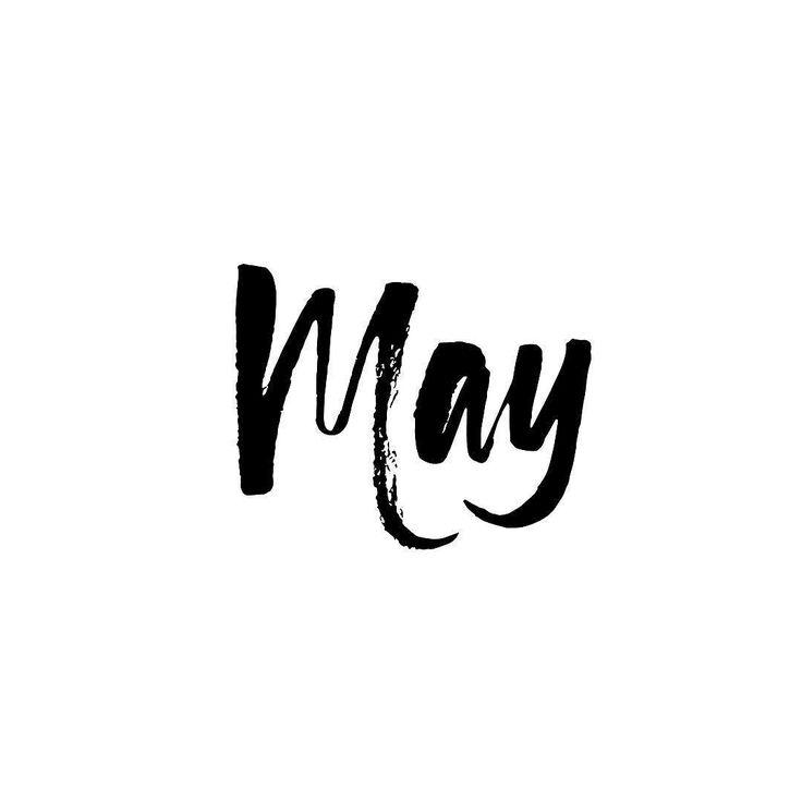 Výsledek obrázku pro may lettering