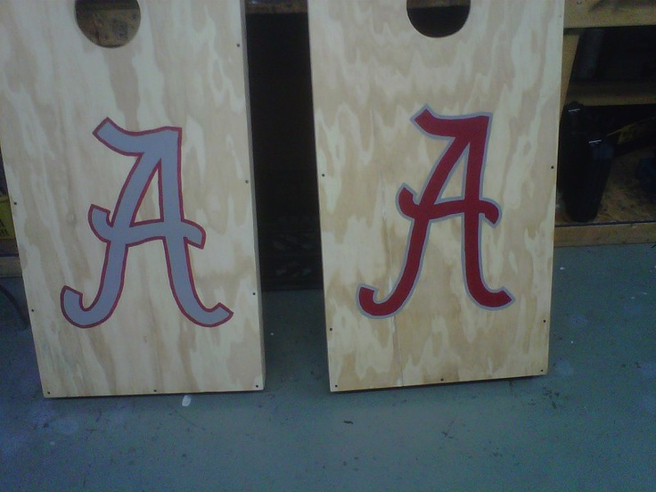 alabama cornhole. so easy to paint!