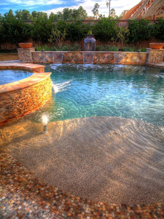 Wonderful Pool Finish Ideas For You To Copy: Best 25+ Walk In Pool Ideas On Pinterest