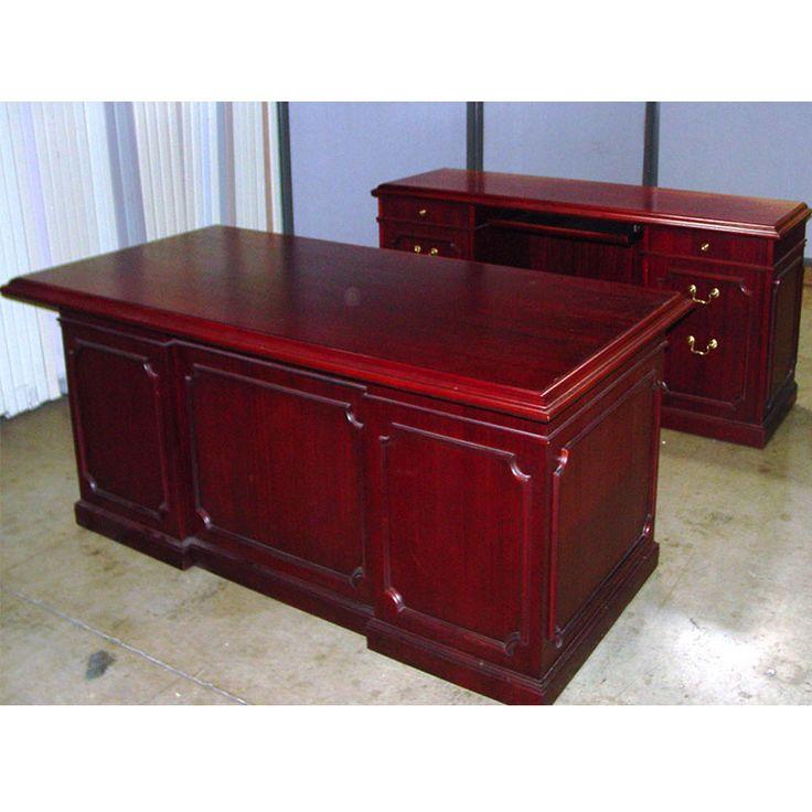 Cherry Wood Executive Desk