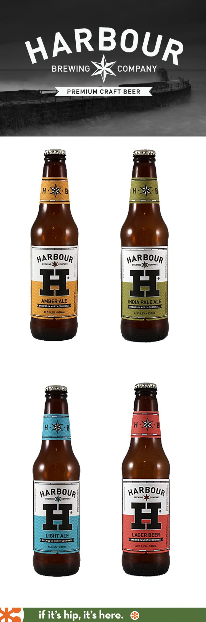 Harbour Brewing Company Beer Bottles - great design, and the beer's not too shabby either!