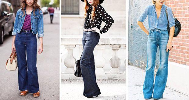 Jeans a Zampa: come abbinarli? Guida con Foto - http://www.beautydea.it/jeans-a-zampa-abbinarli-guida-foto/ - I jeans a zampa sono tornati direttamente dagli anni Settanta per amare le curve, Scopri come indossarli!