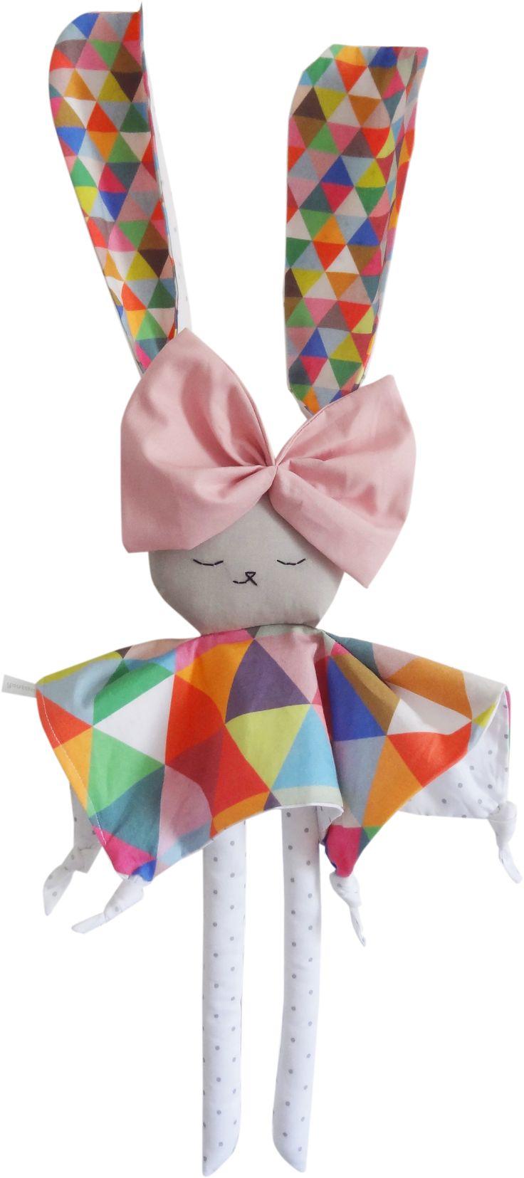 Doudou lapin Ondine - Graphique multicolore | Youttle
