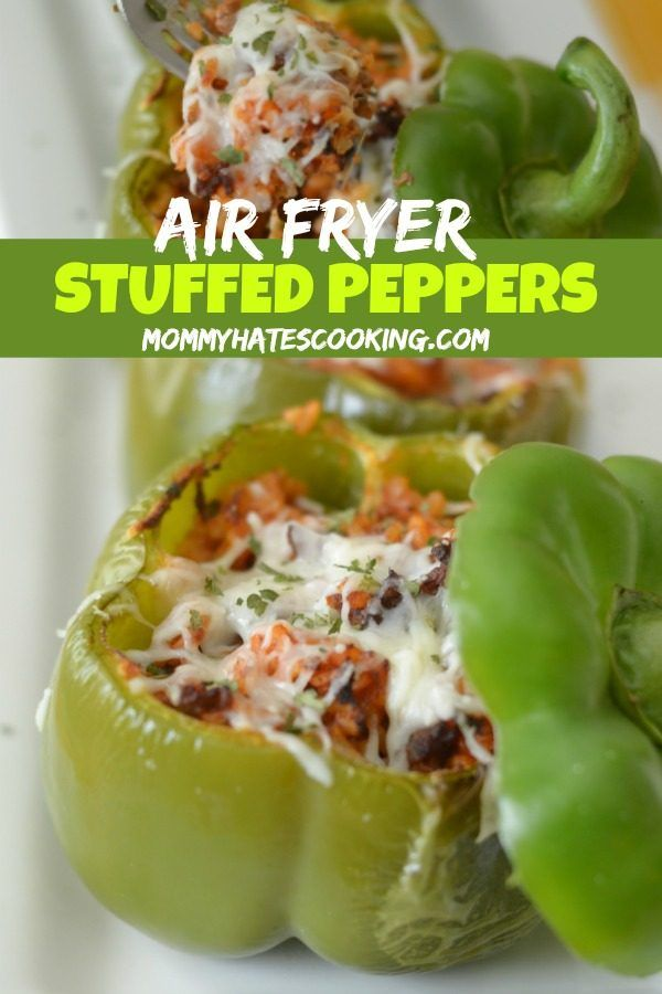 Air Fryer Stuffed Peppers Recipe Stuffed Peppers Air Fryer Dinner Recipes Air Fryer Recipes Healthy