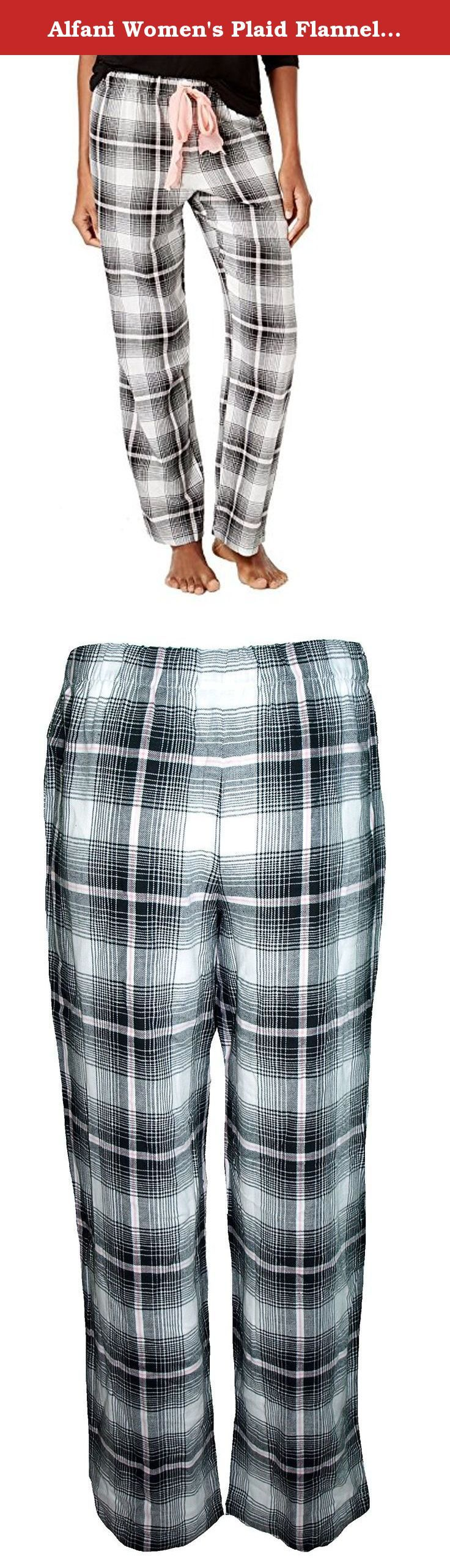 Alfani Women's Plaid Flannel Pajama Pants (S). Alfani Small Blue Combo Plaid Flannel Pajama Pants for Women.