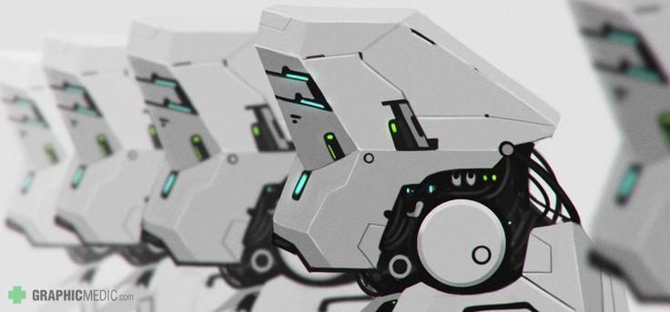 Robots sci fi illustration