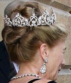 Tiara Mania: Duchess of Wellington's Diamond Tiara worn by Antonia Wellesley