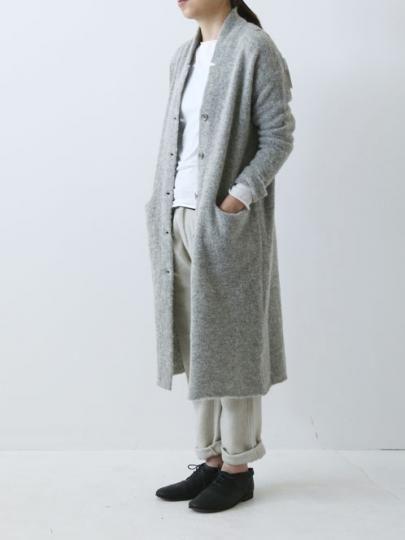 ITEM loop yarn long cardigan MATERIAL alpaca 35% , wool 35% , nylon30%