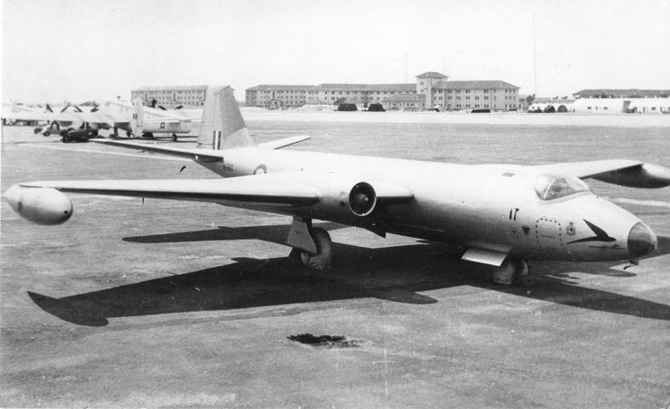 18 Sqn English Electric Canberra B.2, WH866 at Gibraltar in 1953