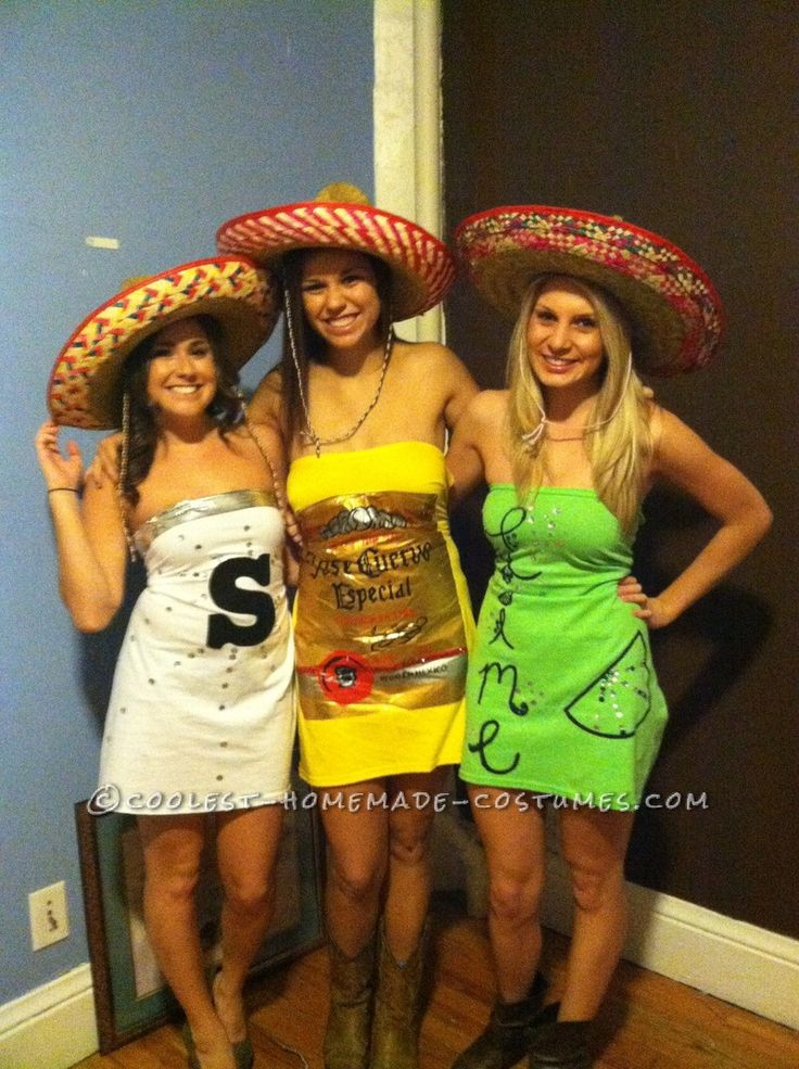 Tequila Makes Our Clothes Fall Off Group Costume: Salt, Tequila and Lime... This website is the Pinterest of costumes