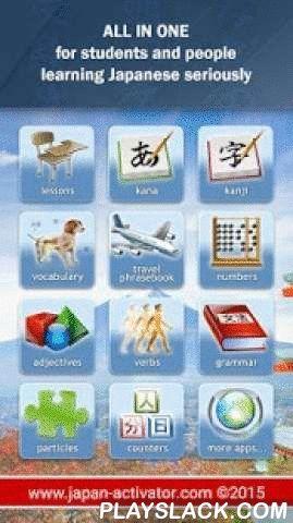 JA Sensei - Learn Japanese  Android App - playslack.com ,  Compleet pakket om Japanse te leren! JA Sensei biedt duidelijke Japanse lessen en tal van interactieve oefeningen om Hiragana, Katakana, Kanji, de Japanse woordenschat, en Japanse zinnen voor uw reizen te leren, getallen, werkwoorden, enz. Neem audio, multiple choice, zelfgemaakte of tekening quizzen (teken een kanji om vragen te beantwoorden !) om te onthouden wat je leert. Gewoon nieuwsgierig naar Japans, studeer je Japans of…