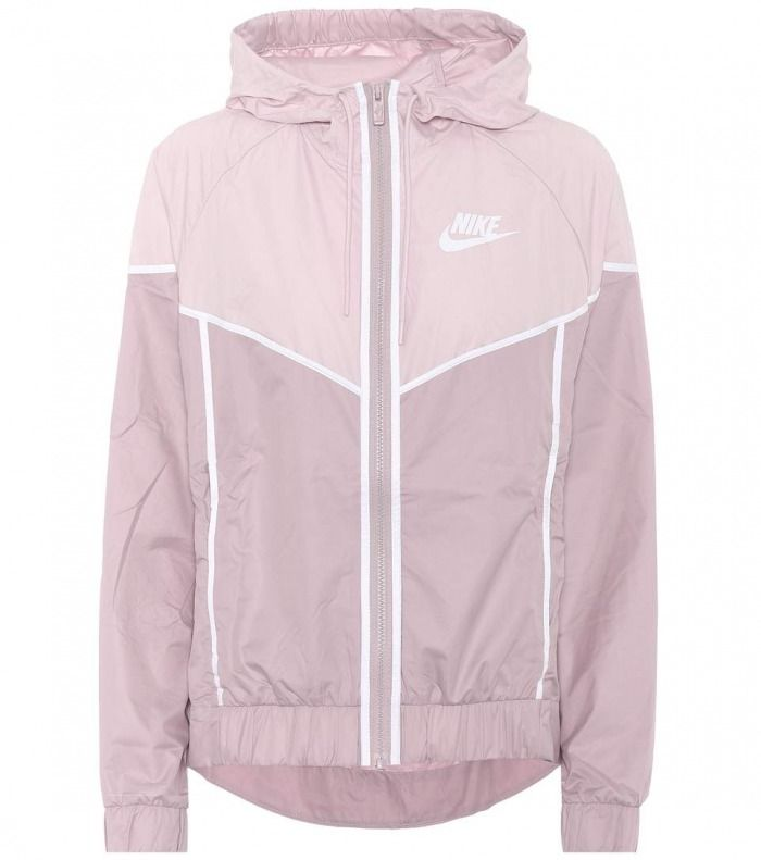 Nike Windrunner jacket is a running layer designed with high performance in mind and has been part of the label's activewear line since 1978 #women #clothing #hood #pink #white