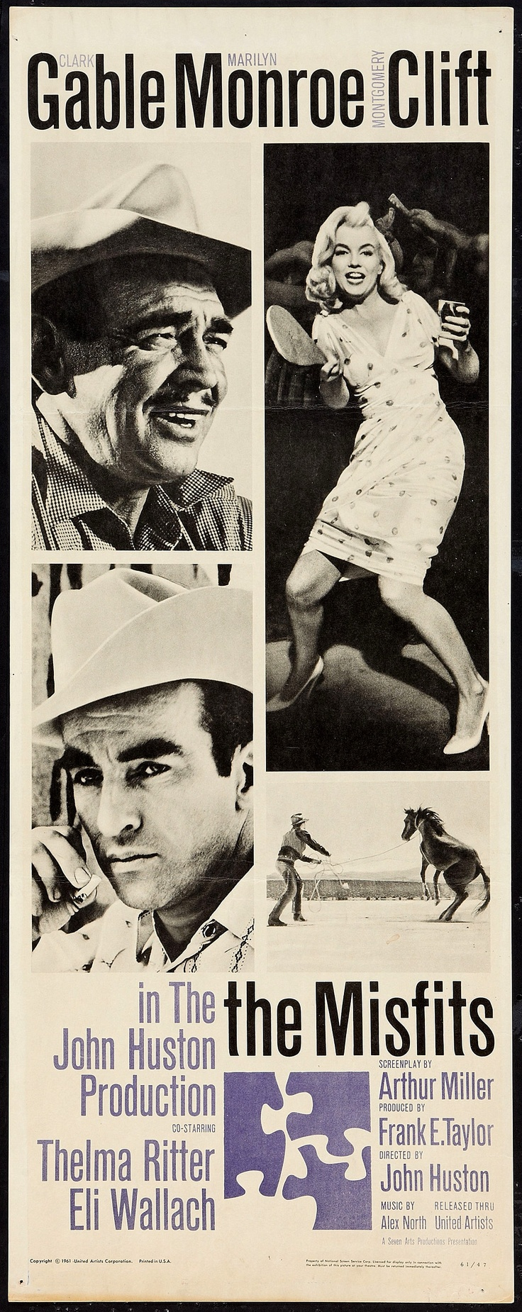 "Marilyn Monroe ""The Misfits"" 1961 Movie posters"