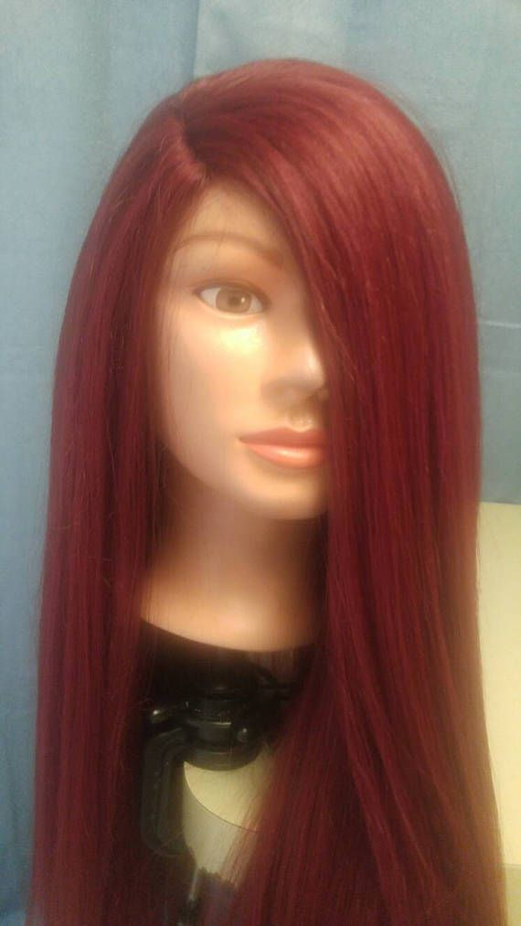 Sasha 100% Human Hair Blend Color Red 22 Inches by Shawzae/
