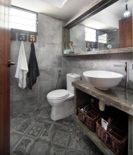 Apartamento Industrial Banheiro Interior DesignIndustrial