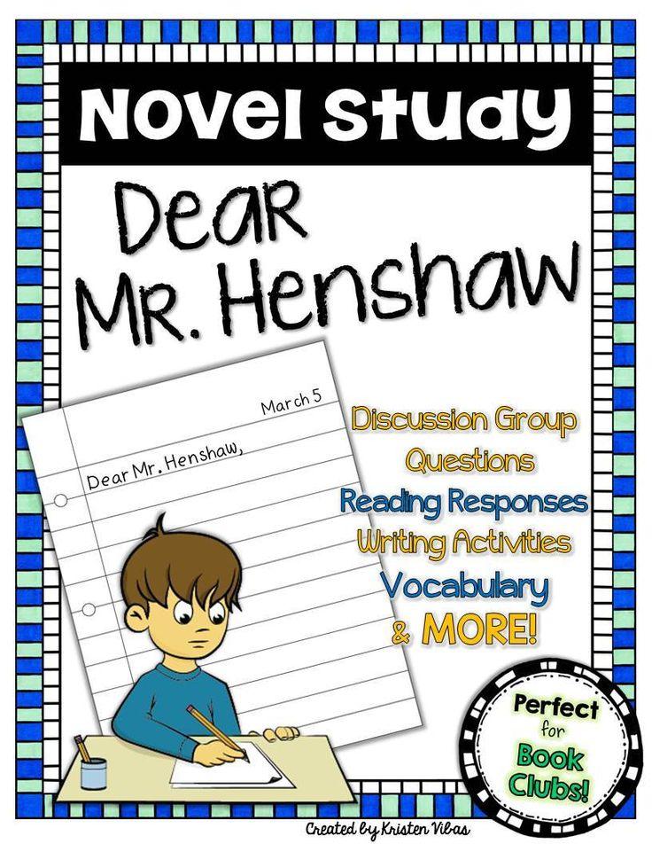 48 best literature units images on pinterest classroom ideas dear mr henshaw novel study fandeluxe Choice Image