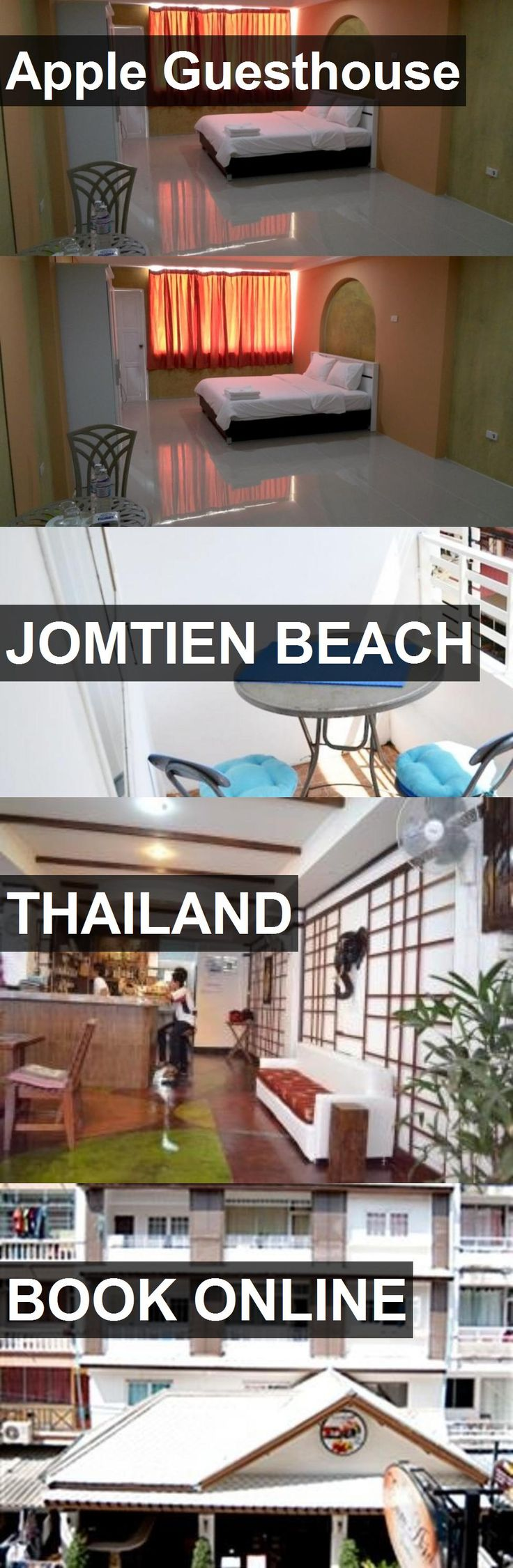 Hotel Apple Guesthouse in Jomtien Beach, Thailand. For more information, photos, reviews and best prices please follow the link. #Thailand #JomtienBeach #travel #vacation #hotel