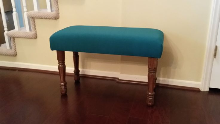 Upholstered Bench - Teal Fabric by TheEdensHouse on Etsy https://www.etsy.com/listing/241605560/upholstered-bench-teal-fabric