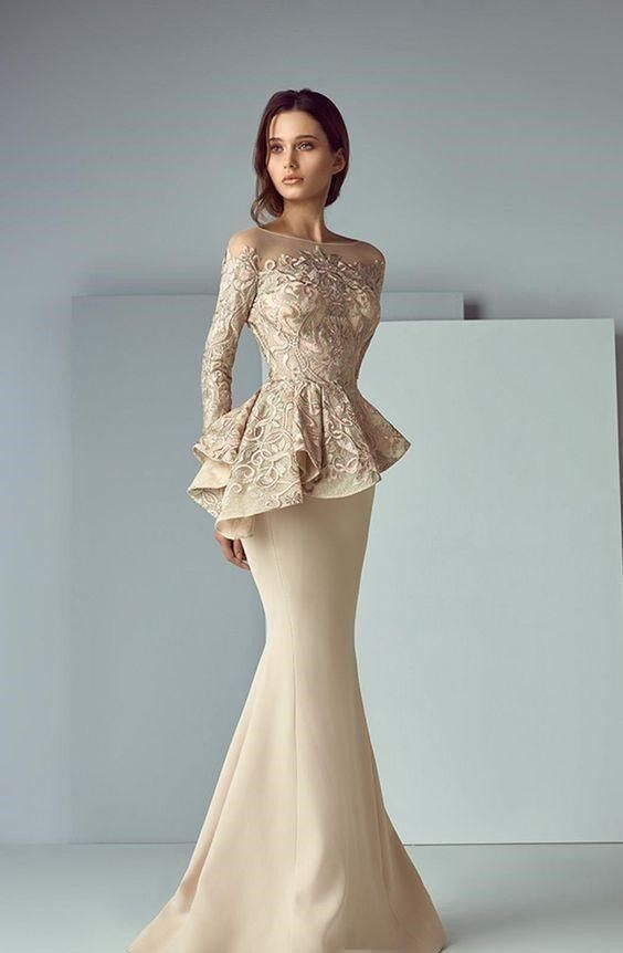Arabic Formal Peplum Champagne Evening Gown Delivery In About 28 Days    Clothing, Shoes   Accessories, Women s Clothing, Dresses   eBay! 726e77c5c1b