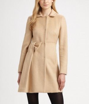 RED Valentino - Mohair Bow Coat (worn by Caroline Channing on 2 Broke Girls)