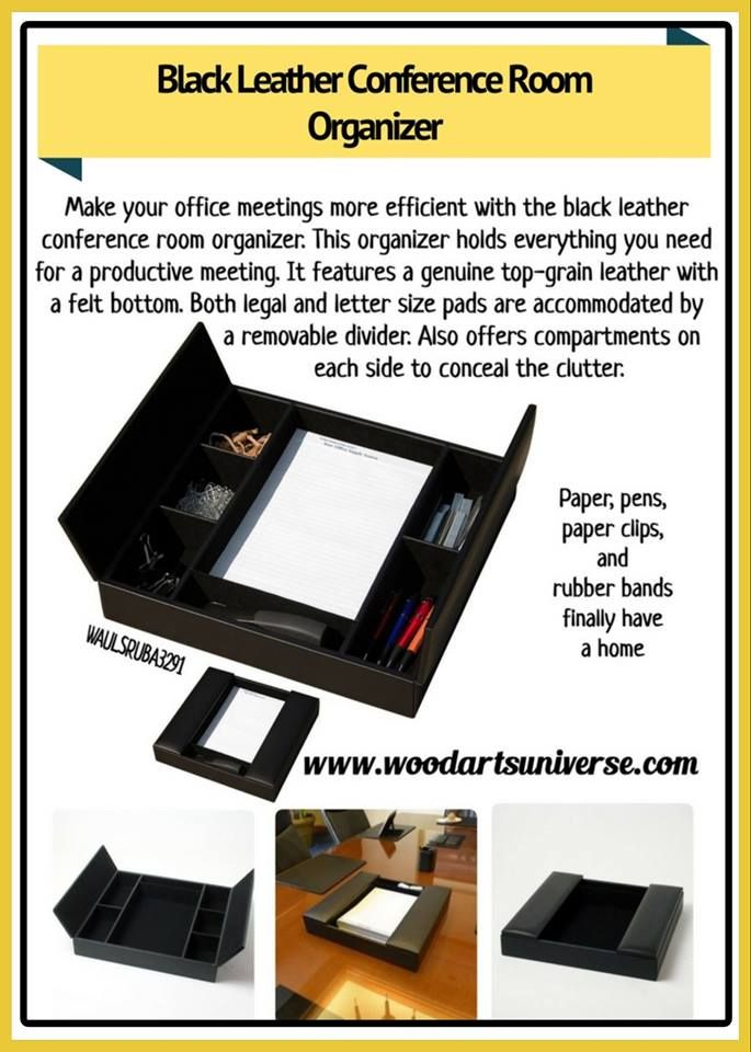 Upto 65% off Make your office meetings more efficient with the black leather conference room organizer. #freeshipping