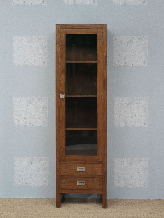 www.livinghome.nl info@livinghome.nl €215,- #kast #vitrinekast #opbergkast #bruin #hout #interieur