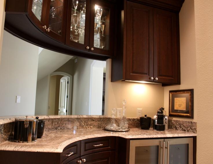 Perfect Juperana Peragahmino Granite Wine Bar #SuperiorGranite #Granite # GraniteCountertops #Wine #Pensacola #