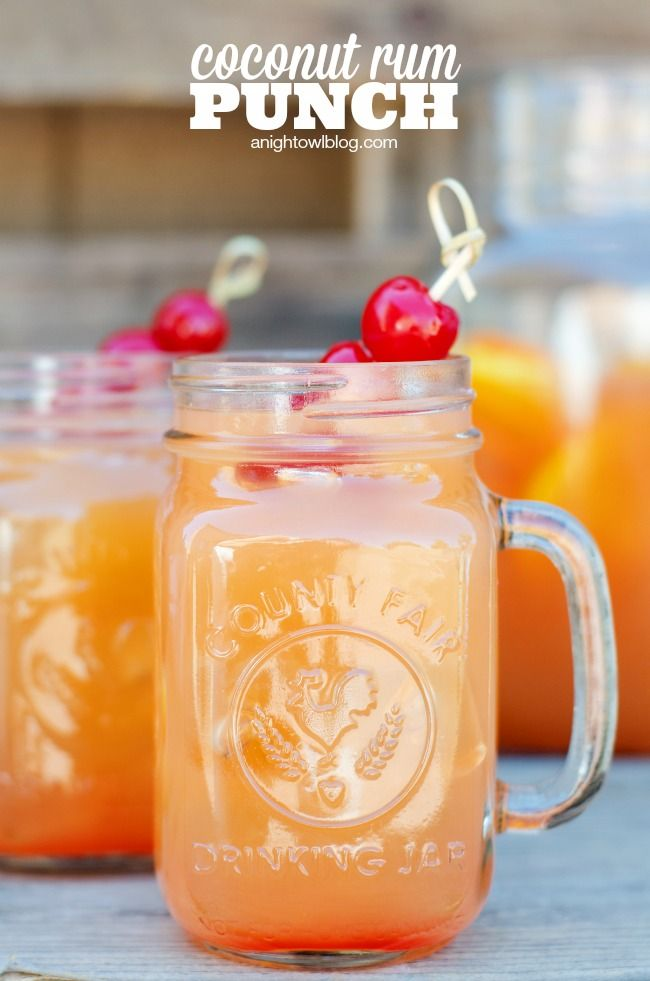 Coconut Rum Punch - a delicious combination of coconut rum and bright fruit flavors!