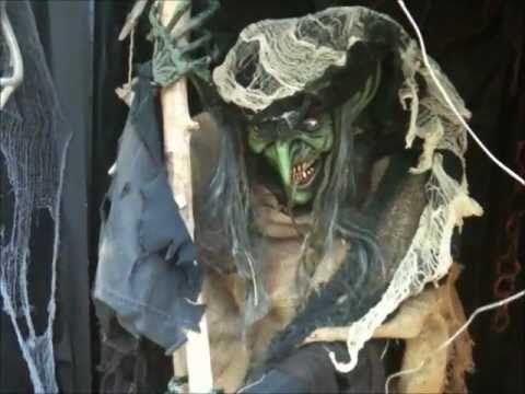 stirring witch halloween yard haunt prop youtube