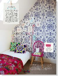Bold and bright, Anna Spiro 'Round And Round The Garden' wallpaper ($220/roll from Porter's Paints)