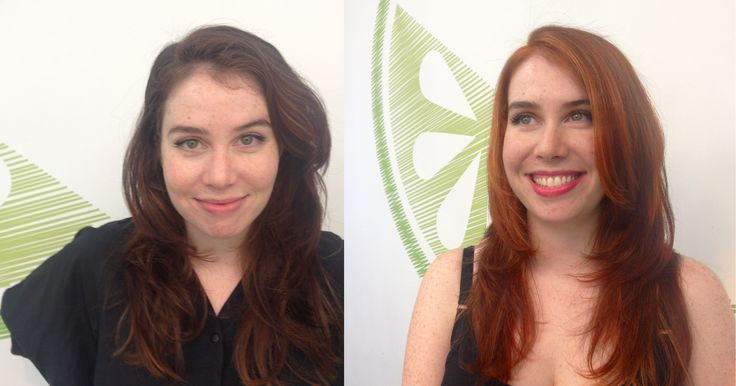 Vibrant, rich, red tones spice up drab brown hair for the Fall season, thanks to Nicole Stevens.