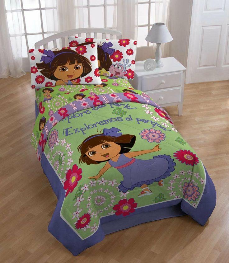 Dora The Explorer Bedroom Set Part - 33: Dora The Explorer Bedding Comforter Fitted Sheet Flat Sheet PIllowcase