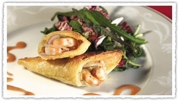 χωνάκια γαρίδας σε σφολιάτα, #gourmet #pie #pita #Pillsbury