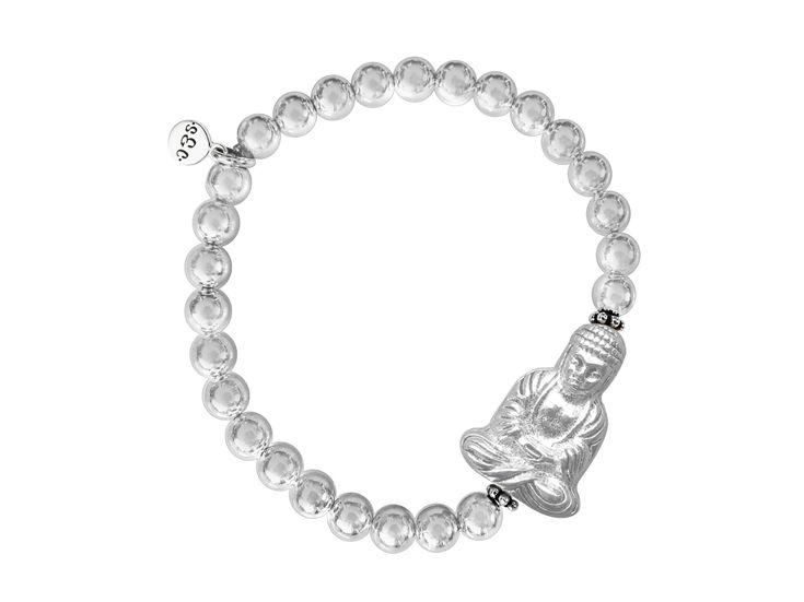 Damen Armband Buddha Sterling Silber