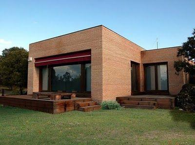 Fachada de ladrillo casas planos de casas - Casas prefabricadas mediterraneas ...