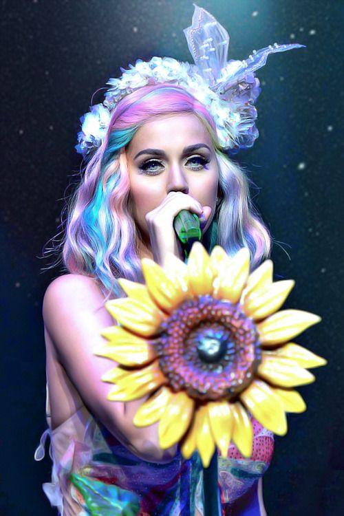 """Katy Perry~""""Like a double rainbow in the sky, wherever you go so do I."""" …"""