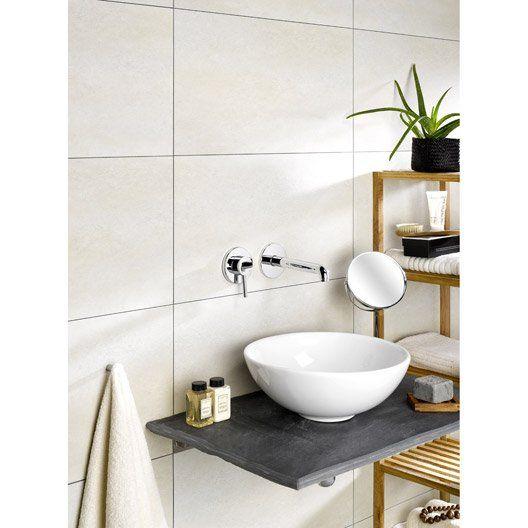 Dalle murale pvc beige dumawall x - Dalle pvc adhesive pour salle de bain ...