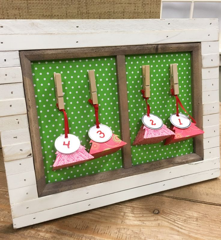 A frame can act as a DIY advent calendar. Let the countdown to Christmas begin!