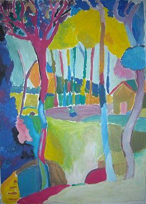 Derain, pink Trees