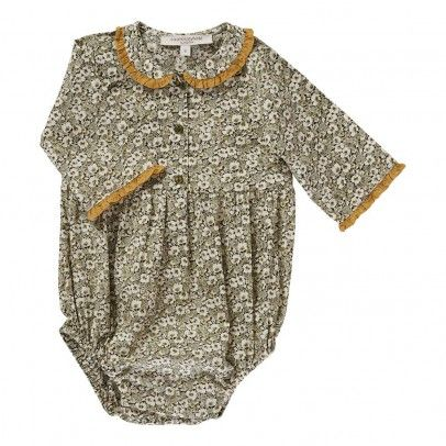 Tourmaline Liberty Romper Light grey Caramel Baby & Child