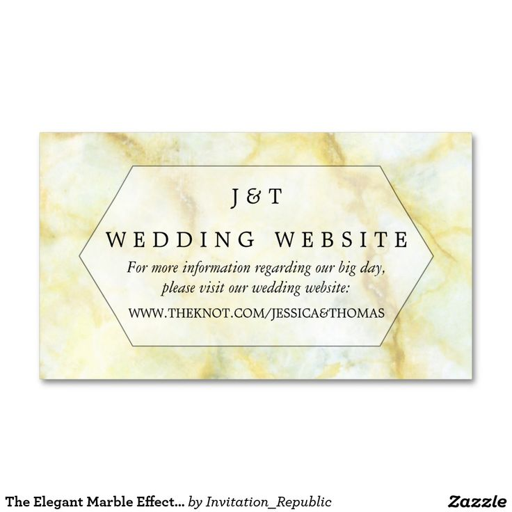 The Elegant Marble Effect Wedding Collection Business Card