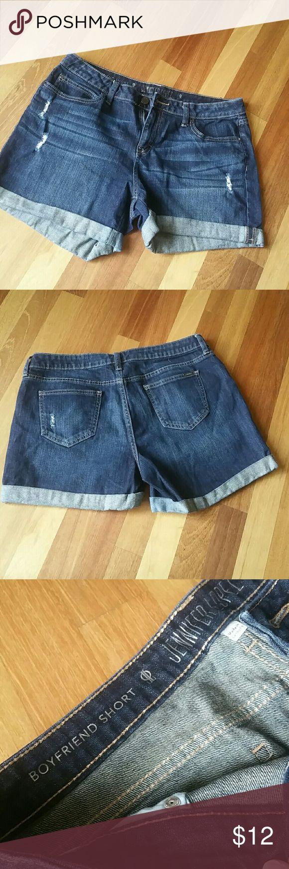 Jennifer Lopez Boyfriend Shorts Size 10. Jennifer Lopez Shorts Jean Shorts
