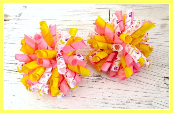 Butterfly Korker Bows- Set of 2- Spring/Summer- Toddler Bows- Girls Bows
